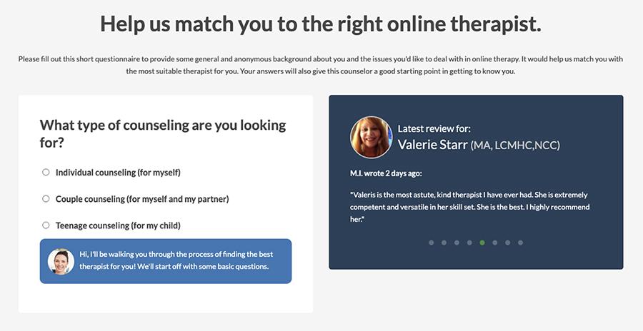 Betterhelp Questionnaire
